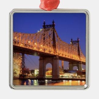 Queensboro橋およびイースト・リバー メタルオーナメント