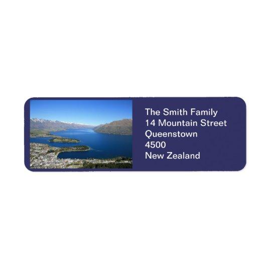 Queenstown NZのカスタマイズ可能な宛名ラベル 返信用宛名ラベル