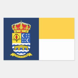 Quéntar (スペイン)の旗 長方形シール