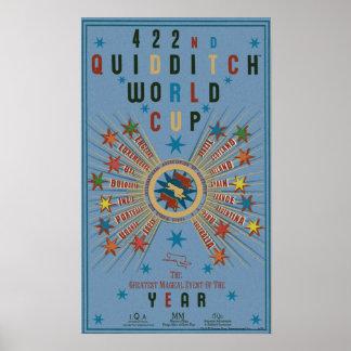 QUIDDITCH™のワールドカップの青ポスター ポスター