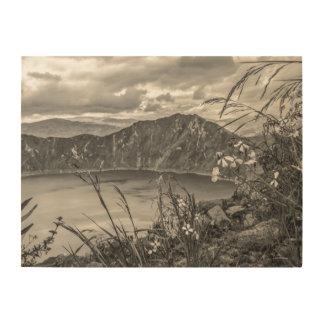 Quilotoa湖Latacungaエクアドル ウッドウォールアート