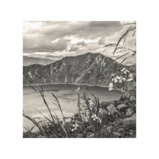 Quilotoa湖Latacungaエクアドル キャンバスプリント