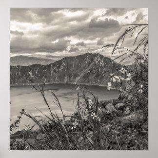 Quilotoa湖Latacungaエクアドル ポスター