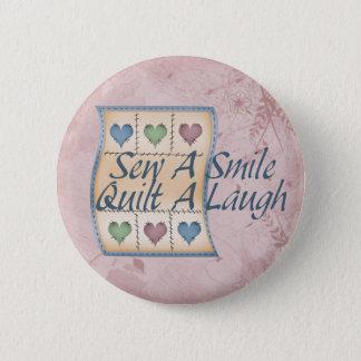 Quilt a Laugh 5.7cm 丸型バッジ