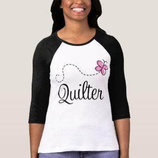 Quilterのかわいいピンクのギフト Tシャツ
