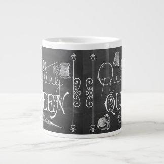 Quilting Queen chalkboard decor Jumbo Mug ジャンボコーヒーマグカップ