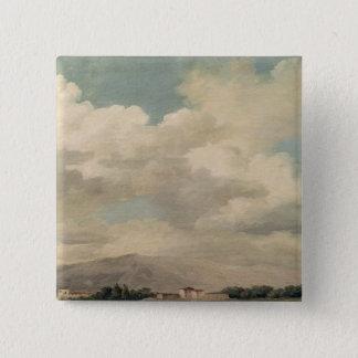 Quirinalの空の勉強 5.1cm 正方形バッジ