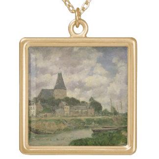 Quittebeuf 1893年(キャンバスの油) ゴールドプレートネックレス