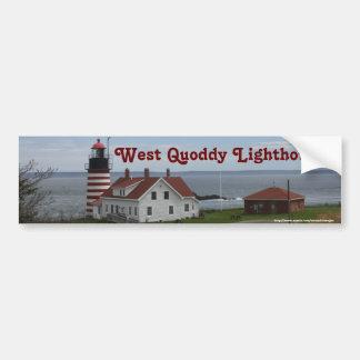 Quoddyの西の灯台 バンパーステッカー