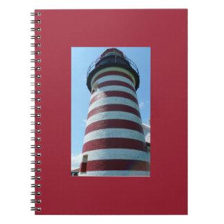 Quoddy西のヘッドライト、メインのノート ノートブック