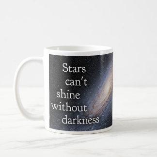 Quotableマグ-星照ることができません-インスパイア コーヒーマグカップ