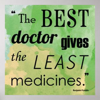 Quote Series Posterベンジャミン・フランクリンの最も最高のな博士 ポスター