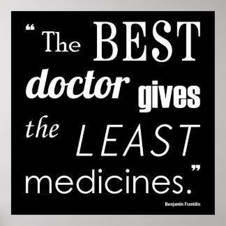 Quote Series Printベンジャミン・フランクリンの最も最高のな博士 ポスター