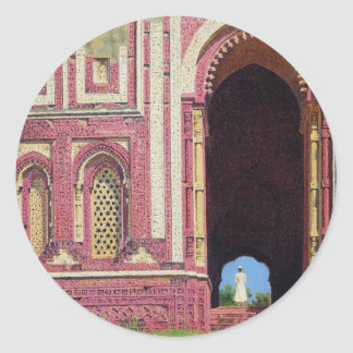 Qutub Minarの近くのゲート。 Vasily著古いデリー ラウンドシール
