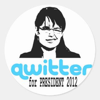 Qwitterのステッカー ラウンドシール