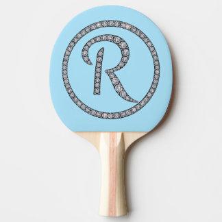 Rのモノグラムのきらきら光るな卓球ラケット 卓球ラケット