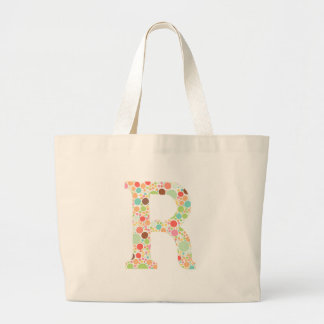 Rのモノグラム ラージトートバッグ