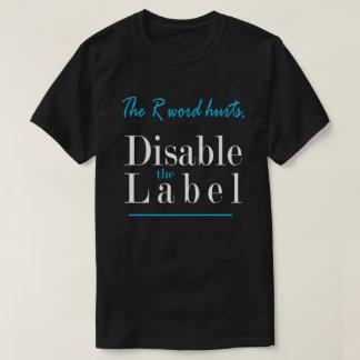 Rの単語の傷は、ラベルを不具にします Tシャツ
