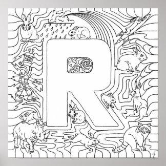 Rは手紙のウサギ色のためです ポスター