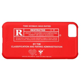 R印: 女性-赤の白 iPhone5Cケース