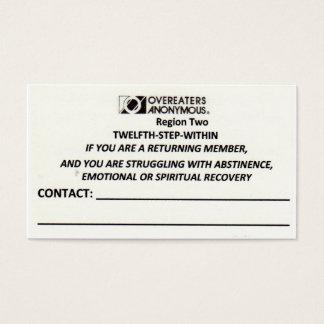 R2 TSWカード接触 名刺