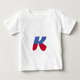 R (ロシア)のモノグラムの旗 ベビーTシャツ