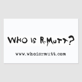 R. Muttはだれですか。 明白なステッカー- 長方形シール