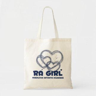 RAの女の子のハートのデザイン:: 慢性関節リウマチ トートバッグ