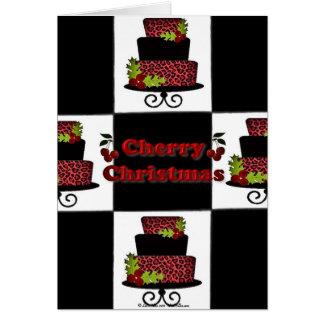 RABのロカビリーのさくらんぼのクリスマスのケーキはギフトをタイルを張ります カード