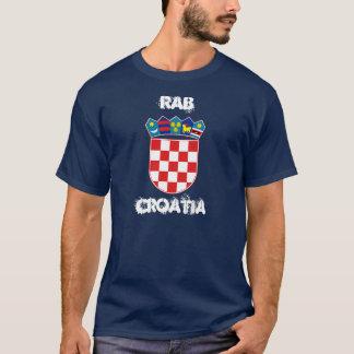 Rab、紋章付き外衣が付いているクロアチア Tシャツ