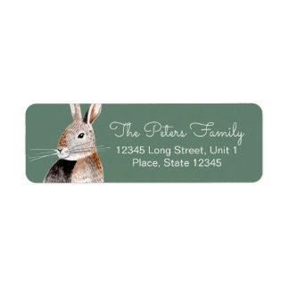 Rabbit | Baby Shower | Address Labels 返信用宛名ラベル