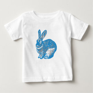 Rabbit Blue - Kids ベビーTシャツ