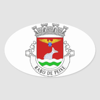 Rabo de Peixe*アゾレスのヨーロッパスタイルのステッカー 楕円形シール