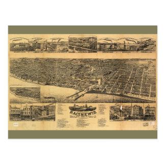 Racine郡1883年のRacineウィスコンシンの郡の首都 ポストカード