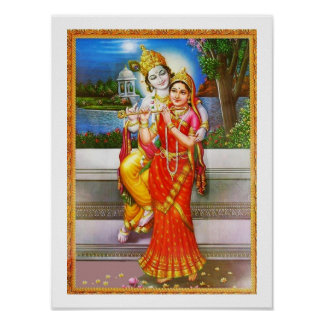 Radha Krishnaへの献身 ポスター