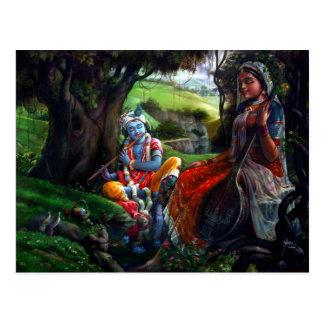 Radha Krishna ポストカード