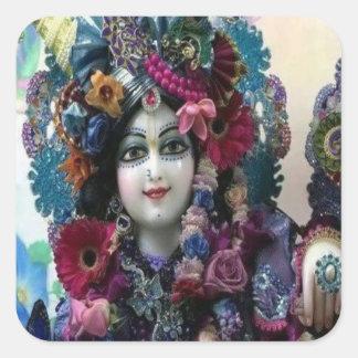 RADHA Krishna -私のハートのコレクションの… スクエアシール