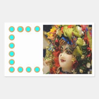 RADHA Krishna -私のハートのコレクションの… 長方形シール