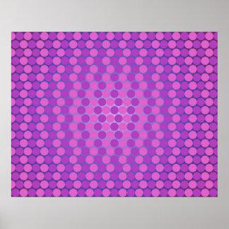 Radi上の紫色のオップアート千の円の色合い ポスター