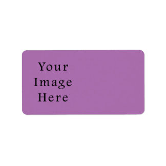 Radientの蘭すみれ色の薄紫の色のテンプレート ラベル