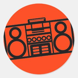 Radiostarのステッカー ラウンドシール