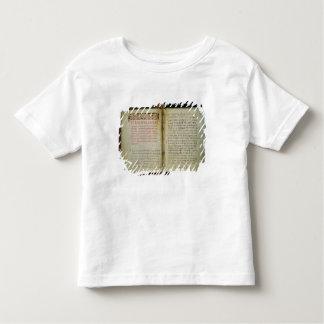 RadonezhのSt. Sergiusの福音のフォリオ トドラーTシャツ