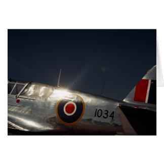 RAFのフライヤ-挨拶状のブランク カード