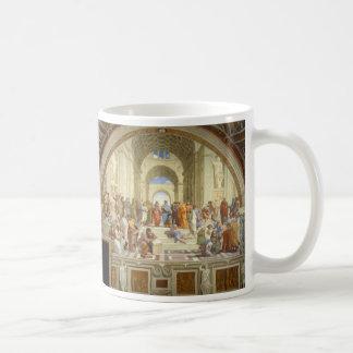 Raffaello Sanzio著アテネのフレスコ画の学校 コーヒーマグカップ