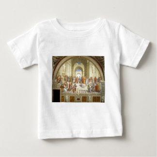 Raffaello Sanzio著アテネのフレスコ画の学校 ベビーTシャツ