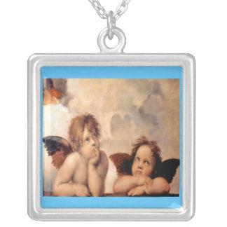 Raffaelsの天使のネックレス シルバープレートネックレス