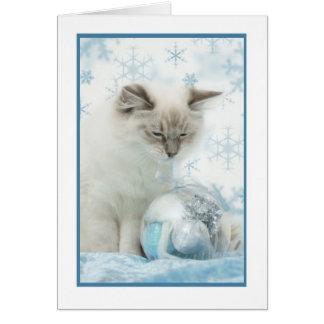 ragdollの冬のnotecard カード