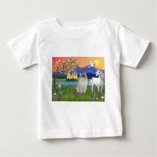Ragdoll猫(青ポイント) -ファンタジーの土地 ベビーTシャツ