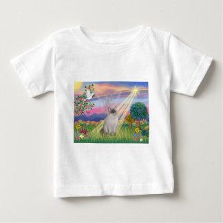Ragdoll猫(青ポイント) -雲の天使 ベビーTシャツ
