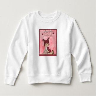 Raggedy国のきちんとした人形の赤いハートのピンクの女の子 スウェットシャツ